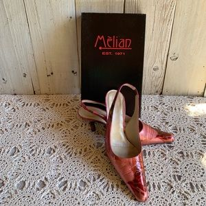 Melian Cleo  Fucsia Slingbacks *Vintage*